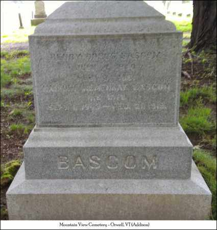 HEMENWAY BASCOM, HARRIET - Addison County, Vermont | HARRIET HEMENWAY BASCOM - Vermont Gravestone Photos