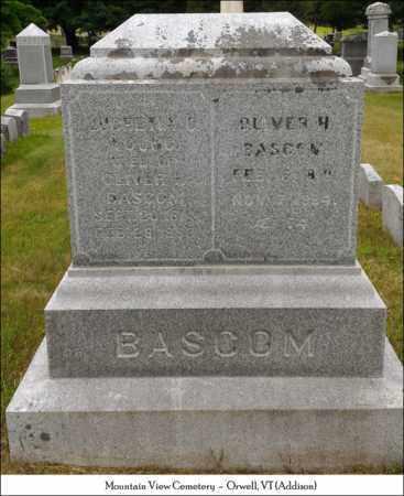 BASCOM, OLIVER H. - Addison County, Vermont | OLIVER H. BASCOM - Vermont Gravestone Photos