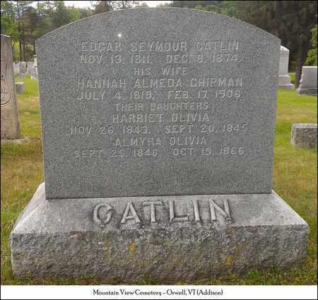 CHIPMAN CATLIN, HANNAH ALMEDA - Addison County, Vermont   HANNAH ALMEDA CHIPMAN CATLIN - Vermont Gravestone Photos