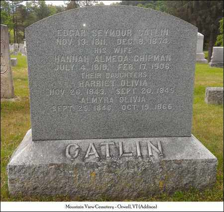 CATLIN, HARRIET OLIVIA - Addison County, Vermont | HARRIET OLIVIA CATLIN - Vermont Gravestone Photos