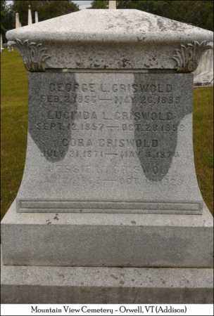 GRISWOLD, CORA - Addison County, Vermont | CORA GRISWOLD - Vermont Gravestone Photos