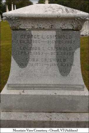 GRISWOLD, JESSIE W. - Addison County, Vermont | JESSIE W. GRISWOLD - Vermont Gravestone Photos