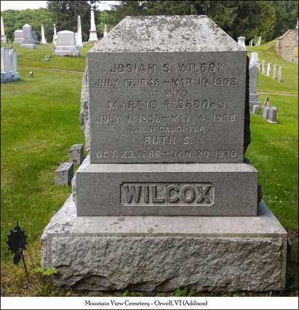 BROOKS WILCOX, MYRTIE P. - Addison County, Vermont | MYRTIE P. BROOKS WILCOX - Vermont Gravestone Photos
