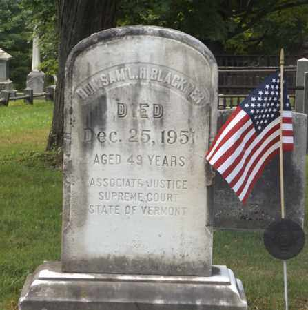 BLACKMER, SAMUEL H - Bennington County, Vermont | SAMUEL H BLACKMER - Vermont Gravestone Photos