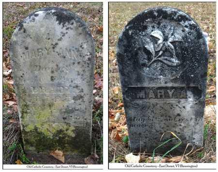 BRADY, MARY ANN - Bennington County, Vermont | MARY ANN BRADY - Vermont Gravestone Photos