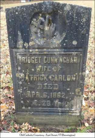 CUNNINGHAM CARLON, BRIDGET - Bennington County, Vermont | BRIDGET CUNNINGHAM CARLON - Vermont Gravestone Photos