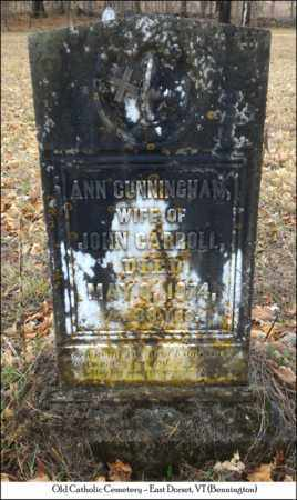 CUNNINGHAM CARROLL, ANN - Bennington County, Vermont | ANN CUNNINGHAM CARROLL - Vermont Gravestone Photos