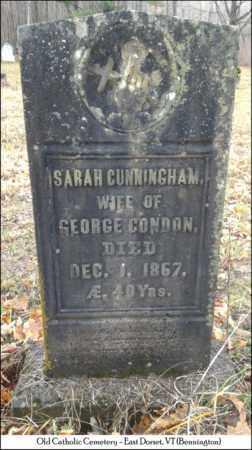 CUNNINGHAM CONDON, SARAH - Bennington County, Vermont   SARAH CUNNINGHAM CONDON - Vermont Gravestone Photos