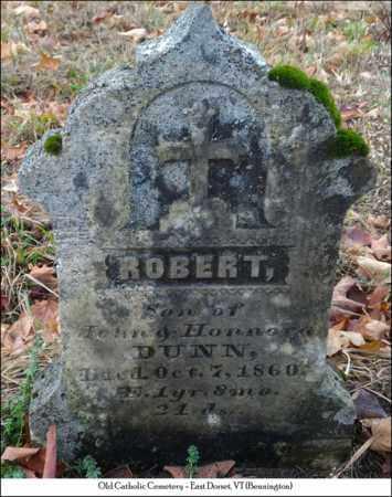 DUNN, ROBERT - Bennington County, Vermont   ROBERT DUNN - Vermont Gravestone Photos