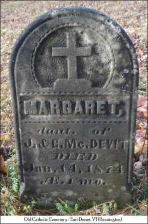 MCDEVIT, MARGARET - Bennington County, Vermont | MARGARET MCDEVIT - Vermont Gravestone Photos