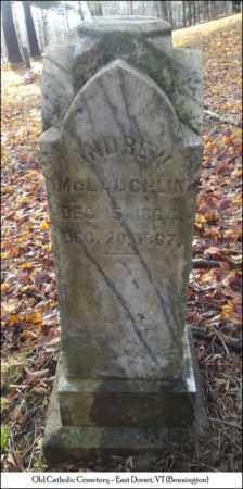MCLAUGHLIN, ANDREW - Bennington County, Vermont | ANDREW MCLAUGHLIN - Vermont Gravestone Photos