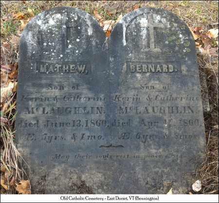 MCLAUGHLIN, MATHEW - Bennington County, Vermont   MATHEW MCLAUGHLIN - Vermont Gravestone Photos