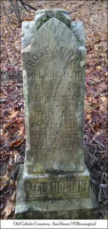 MCLAUGHLIN, ROSE ANNA - Bennington County, Vermont   ROSE ANNA MCLAUGHLIN - Vermont Gravestone Photos