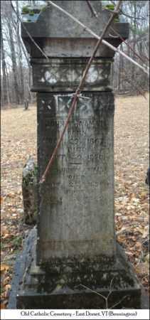 MCNAMARA, JOHN - Bennington County, Vermont   JOHN MCNAMARA - Vermont Gravestone Photos