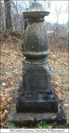 MCNAMARA, MARY - Bennington County, Vermont   MARY MCNAMARA - Vermont Gravestone Photos