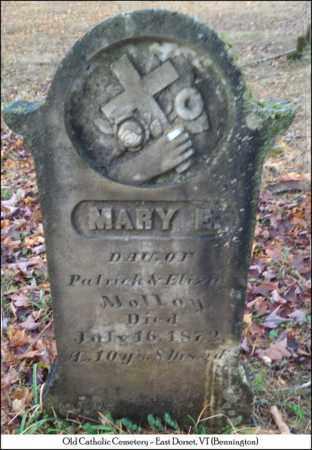 MOLLOY, MARY E. - Bennington County, Vermont | MARY E. MOLLOY - Vermont Gravestone Photos