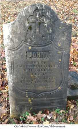 O'HERON, JOHN - Bennington County, Vermont | JOHN O'HERON - Vermont Gravestone Photos