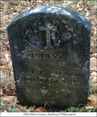 PRENDERGAST, BABY SON - Bennington County, Vermont | BABY SON PRENDERGAST - Vermont Gravestone Photos