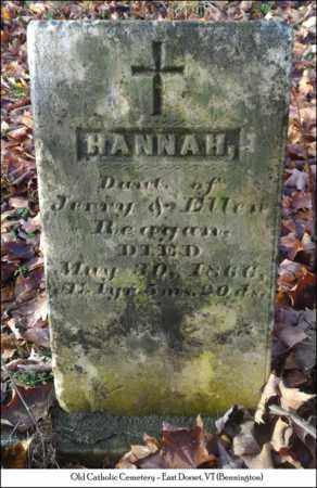 REAGAN, HANNAH - Bennington County, Vermont | HANNAH REAGAN - Vermont Gravestone Photos