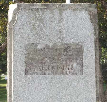 REDDING, DAVID - Bennington County, Vermont | DAVID REDDING - Vermont Gravestone Photos
