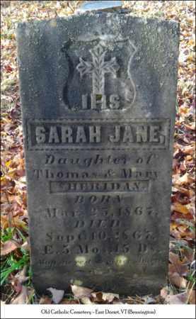 SHERIDAN, SARAH JANE - Bennington County, Vermont | SARAH JANE SHERIDAN - Vermont Gravestone Photos