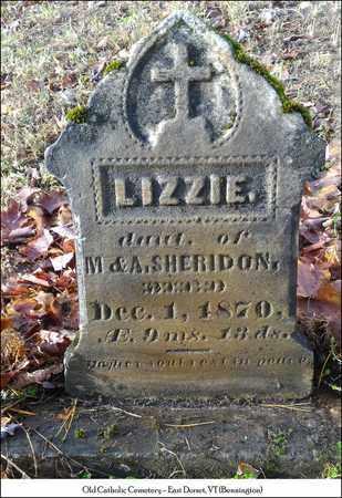 SHERIDON, ELIZABETH (LIZZIE) - Bennington County, Vermont | ELIZABETH (LIZZIE) SHERIDON - Vermont Gravestone Photos
