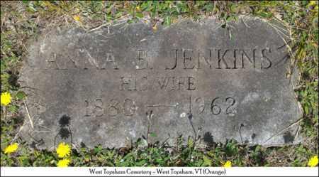 JENKINS CILLEY, ANNA B. - Orange County, Vermont | ANNA B. JENKINS CILLEY - Vermont Gravestone Photos