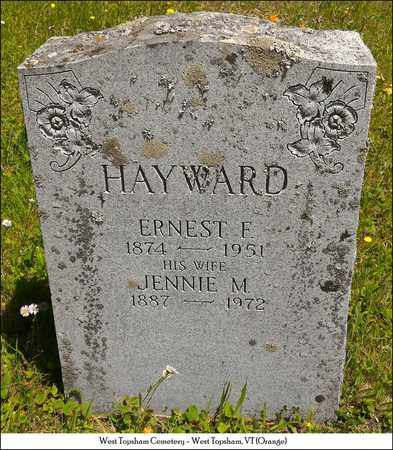 HAYWARD, JENNIE M. - Orange County, Vermont | JENNIE M. HAYWARD - Vermont Gravestone Photos