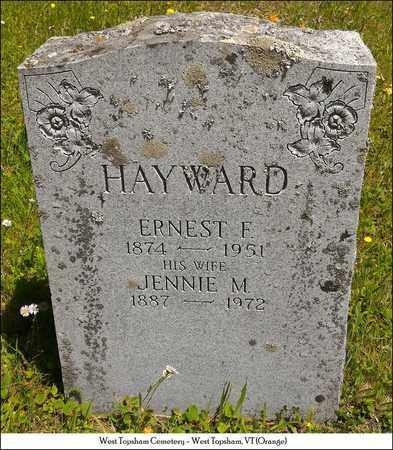 HAYWARD, JENNIE M. - Orange County, Vermont | JENNIE M. HAYWARD - Vermont Gravestone Photos