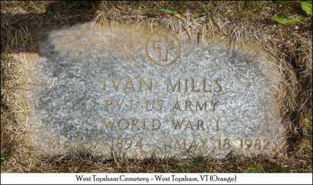MILLS, IVAN - Orange County, Vermont   IVAN MILLS - Vermont Gravestone Photos