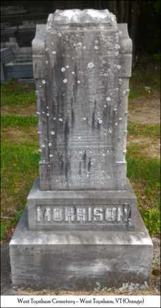 MORRISON, PAULINA - Orange County, Vermont | PAULINA MORRISON - Vermont Gravestone Photos