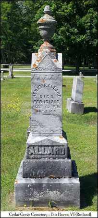 ALLARD, HENRY P. - Rutland County, Vermont | HENRY P. ALLARD - Vermont Gravestone Photos