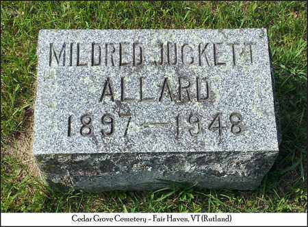 ALLARD, MILDRED - Rutland County, Vermont | MILDRED ALLARD - Vermont Gravestone Photos