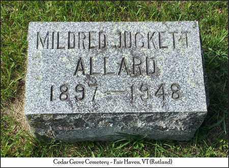 JUCKETT ALLARD, MILDRED - Rutland County, Vermont | MILDRED JUCKETT ALLARD - Vermont Gravestone Photos