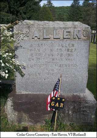 MAYNARD ALLEN, LUCINDA L. - Rutland County, Vermont | LUCINDA L. MAYNARD ALLEN - Vermont Gravestone Photos