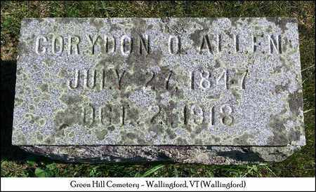 ALLEN, CORYDON O. - Rutland County, Vermont | CORYDON O. ALLEN - Vermont Gravestone Photos