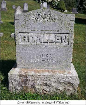 ALLEN, LAURA - Rutland County, Vermont | LAURA ALLEN - Vermont Gravestone Photos
