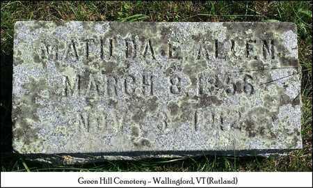 ALLEN, MATILDA E. - Rutland County, Vermont | MATILDA E. ALLEN - Vermont Gravestone Photos