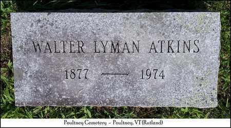 ATKINS, WALTER LYMAN - Rutland County, Vermont   WALTER LYMAN ATKINS - Vermont Gravestone Photos