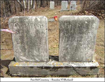 WINTER ATWOOD, ELZIRA - Rutland County, Vermont | ELZIRA WINTER ATWOOD - Vermont Gravestone Photos