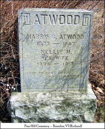 ATWOOD, NELLIE M. - Rutland County, Vermont | NELLIE M. ATWOOD - Vermont Gravestone Photos