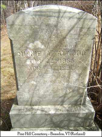 ATWOOD, MINNIE A. - Rutland County, Vermont | MINNIE A. ATWOOD - Vermont Gravestone Photos