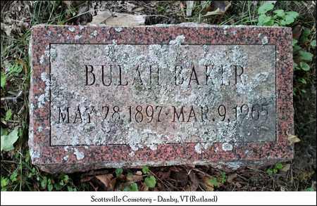 BAKER, BULAH - Rutland County, Vermont   BULAH BAKER - Vermont Gravestone Photos