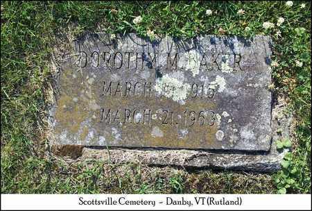 BAKER, DOROTHY M. - Rutland County, Vermont | DOROTHY M. BAKER - Vermont Gravestone Photos