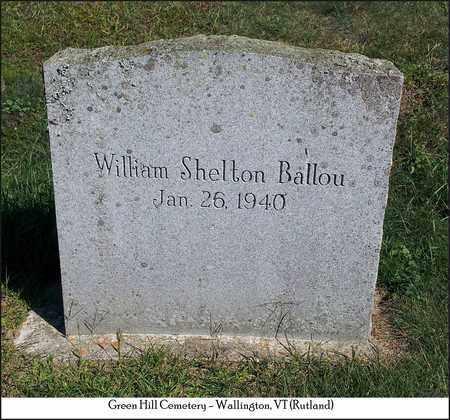 BALLOU, WILLIAM SHELTON - Rutland County, Vermont   WILLIAM SHELTON BALLOU - Vermont Gravestone Photos