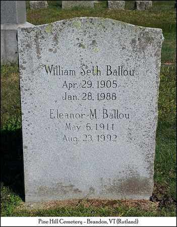 BALLOU, WILLIAM SETH - Rutland County, Vermont | WILLIAM SETH BALLOU - Vermont Gravestone Photos