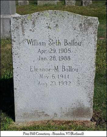 BALLOU, ELLEANOR M. - Rutland County, Vermont | ELLEANOR M. BALLOU - Vermont Gravestone Photos