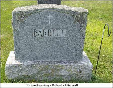 BARRETT, FAMILY HEADSTONE - Rutland County, Vermont   FAMILY HEADSTONE BARRETT - Vermont Gravestone Photos