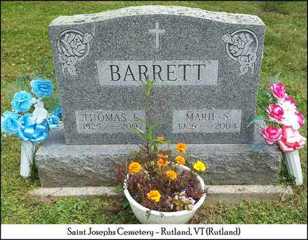 BARRETT, THOMAS E. - Rutland County, Vermont | THOMAS E. BARRETT - Vermont Gravestone Photos