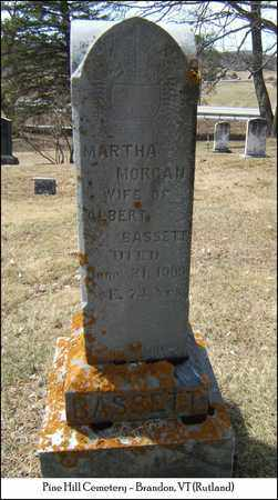 MORGAN BASSETT, MARTHA - Rutland County, Vermont | MARTHA MORGAN BASSETT - Vermont Gravestone Photos